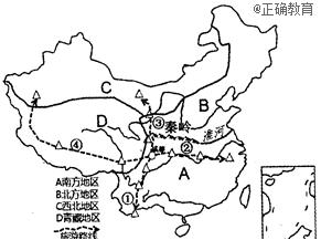 读我国四大地理单元分布图