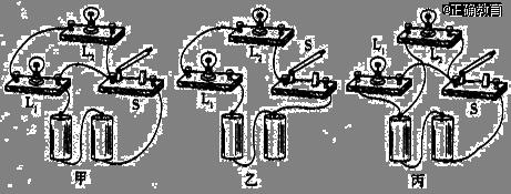 如图所示,找出下列电路连接