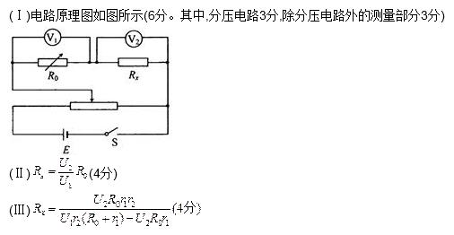 图中两个电压表量程相同