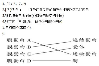 。 3.图1细胞可执行多种功能,在执行各种不同功能的过程中,有的具有高度的专一性。从膜的成分分析,出现这一现象的原因是__________________________________。 4.膜蛋白A要消耗主要由图1中的________(结构)产生的ATP,以________方式吸收钠离子等。细胞面向肠腔侧形成很多微绒毛,以增多细胞膜上________数量,高效地吸收来自肠腔的钠离子等物质。)通过膜蛋白B可将相邻的两个细胞膜紧密连在一起,以保证肠腔中的物质只能从微绒毛处吸收。 5.