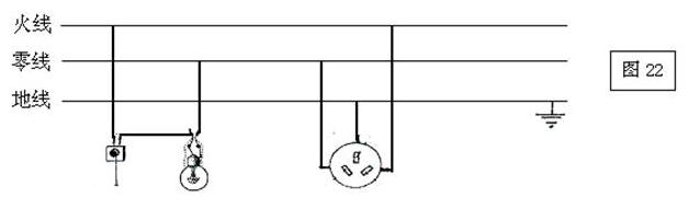 开关,三孔插座接到家庭电路中(4分)