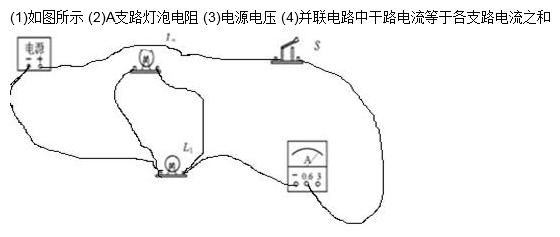 """小明和小强在""""探究并联电路中干路电流与各支路电流有"""