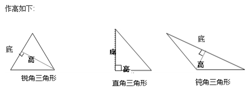 怎样画三角形的高分享展示