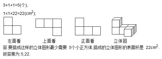 用棱长为1cm的小正方体拼成一个立体图形,使得从左面.