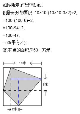 三角形的周长,长方形的面积