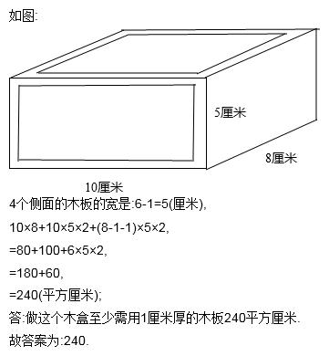 做一个长方形无盖的木盒